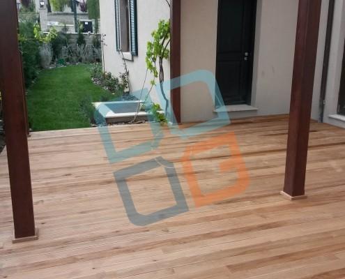 DK-010- Emprenyeli veya boyalı ithal çam deck uygulama
